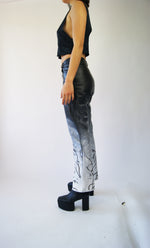Unique Vintage Hand Painted REAL Leather Pants - ULTRA-CAT