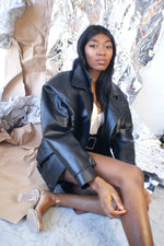 Oversized Vintage Leather Jacket - ULTRA-CAT