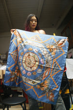 RARE! Hermes Rocaille Vintage Silk Scarf - ULTRA-CAT