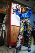 Hand painted Leather Pants - ULTRA-CAT