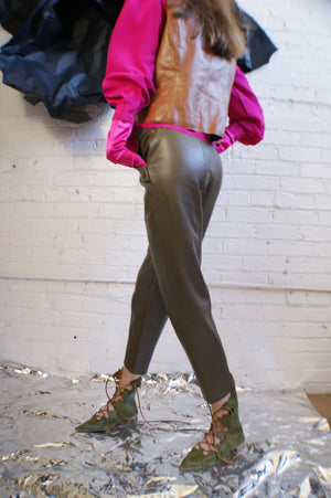 Y2K PU Leather Pants - ULTRA-CAT