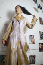 Unique Had Painted Vegan Leather Coat - ULTRA-CAT