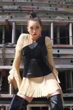 Leather Asymmetrical Top - ULTRA-CAT