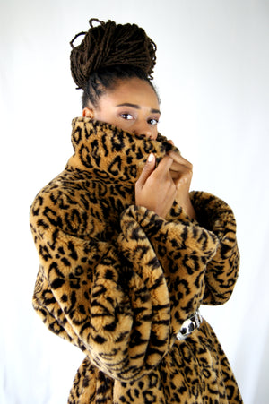 Vintage Leopard Coat, that Kate Moss would Wear - ULTRA-CAT