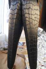 Exceptional Quality Silk and Wool Leopard Pants - ULTRA-CAT