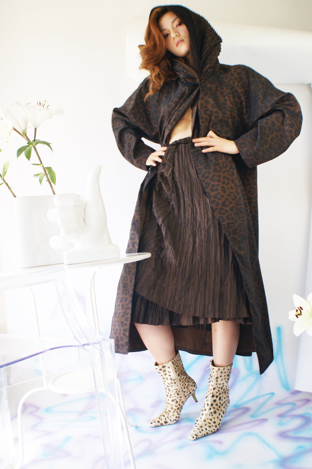 Trench Leopard Oversized Coat - ULTRA-CAT