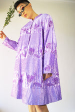 Vintage Lilac Embroidered Beaded Coat - ULTRA-CAT