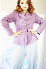 1950's Lilac Tailored Wool Jacket - ULTRA-CAT