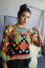 Macrame Vintage 1970's Top - ULTRA-CAT