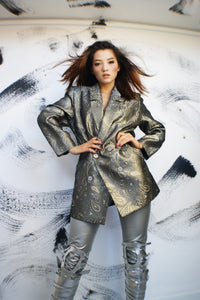 Unique Metallic Ricardo Lenzi Jacket - ULTRA-CAT