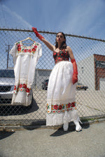 Huipil Mexican Incredibly Beautiful Dress-Skirt Set