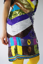 RARE 1980's Hand Embroidered Sequined Dress - ULTRA-CAT