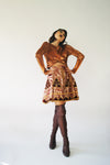 Vintage Metallic Reworked Vintage Skirt - ULTRA-CAT