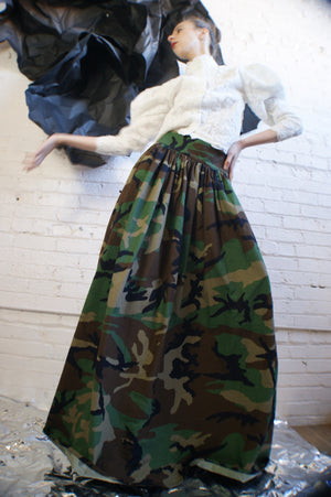 Unique Ball Gown Military Skirt