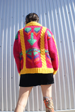 Multicolor Abstract Wool Sweater - ULTRA-CAT