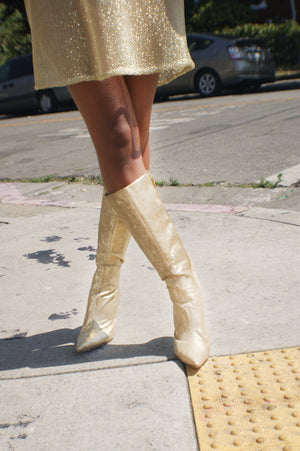 Italian Gold leather Boots