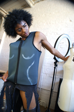 Neoprene Surf Vest With Body Hand painting - ULTRA-CAT