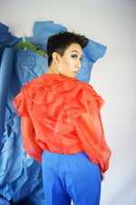 Dramatic Puffy Sleeves Organza Vintage Blouse - ULTRA-CAT
