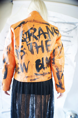 "Authentic Wilson Leather ""Orange is The New Black"" jacket - ULTRA-CAT"