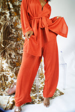 Orange Vintage Reworked Knit Suit - ULTRA-CAT