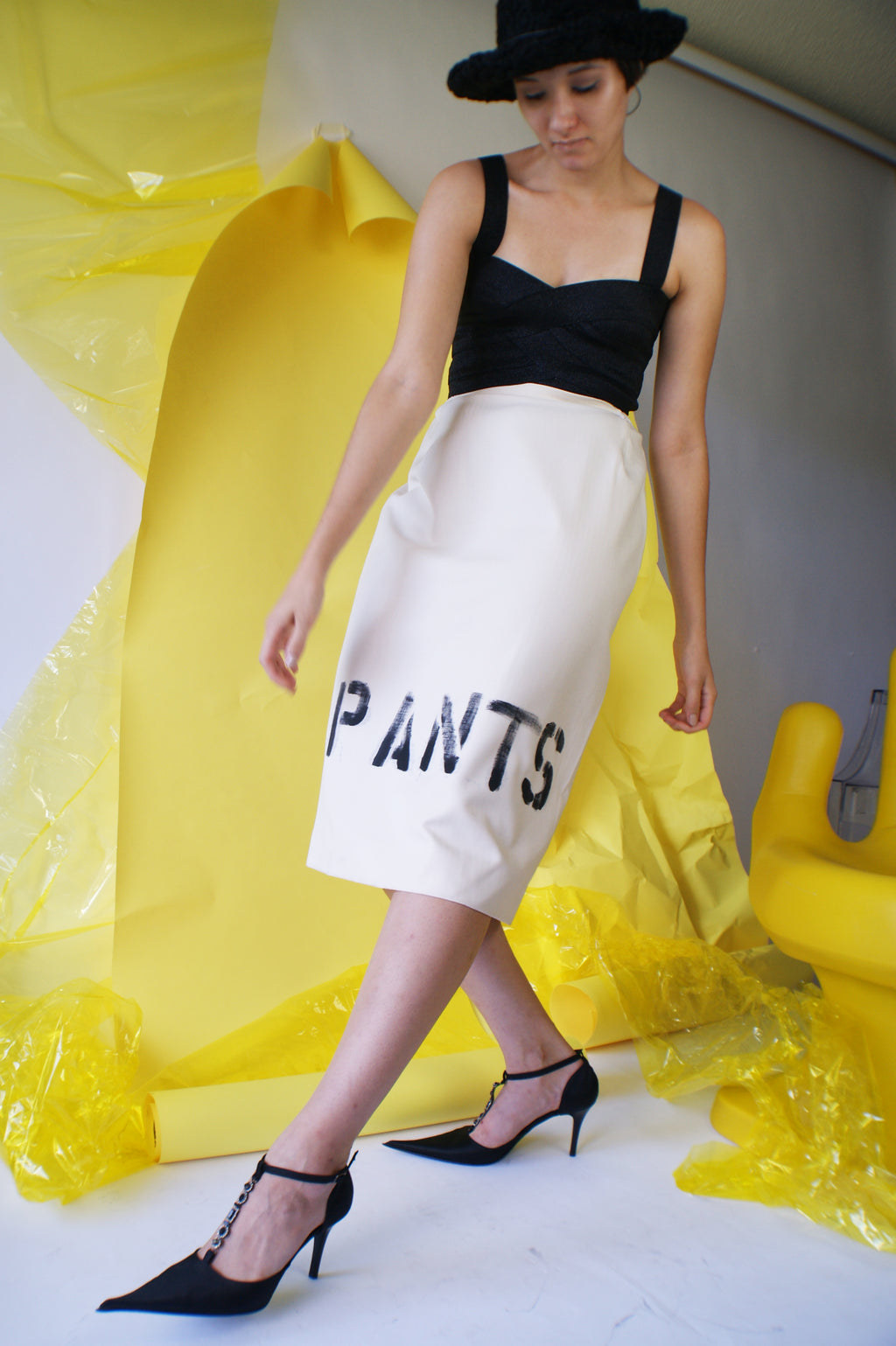 "Vintage ""PANTS"" Skirt - ULTRA-CAT"