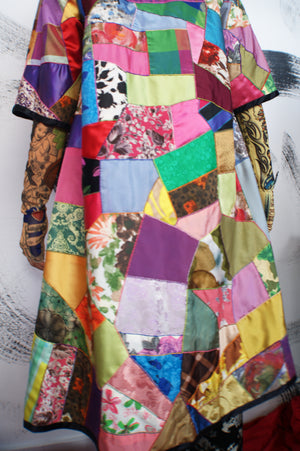 Silk Patchwork Coat - ULTRA-CAT
