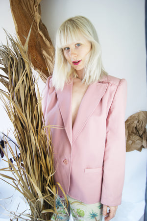 Blush Pink 1970's Blazer - ULTRA-CAT