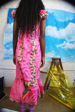 Pink Vintage Hawaiian Mermaid Dress - ULTRA-CAT