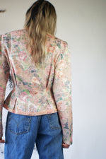 Redesigned 1980's Floral Jacket With Puffy Sleeves - ULTRA-CAT