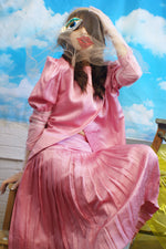 Unique Pink Pleated Skirt Suit - ULTRA-CAT