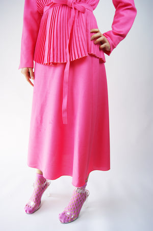 1950's Bubble Gum Wool Pink Skirt Suit - ULTRA-CAT