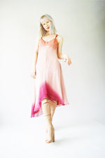 1990's Silk Ombre Pink Slip Dress - ULTRA-CAT
