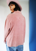 Vintage Authentic Pink Suede Shirt From 1970's - ULTRA-CAT