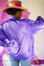 Vintage Purple Pussy Bow Blouse - ULTRA-CAT