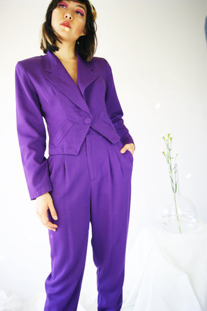 Vintage 1980's Purple Suit - ULTRA-CAT