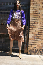 Bronze Pleated Skirt
