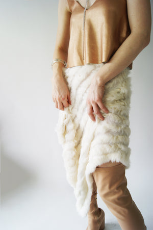 Unique Vintage Rabbit Fur Skirt - ULTRA-CAT