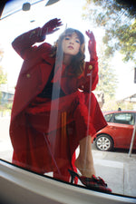 "1980's Vintage Red ""Military"" Coat - ULTRA-CAT"