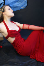 1990's Sexy Red Jersey Dress - ULTRA-CAT