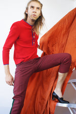 Red Knit Vintage Top - ULTRA-CAT