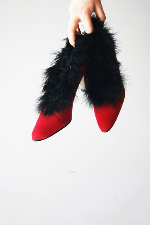 Red  1980's Vintage Heeled Shoes - ULTRA-CAT