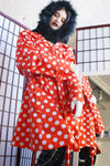 Unique Red Polka Dot Coat - ULTRA-CAT