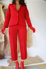 Vintage Red Power Suit - ULTRA-CAT