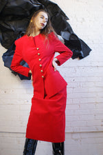 Red Ultra Suede Vintage Suit - ULTRA-CAT