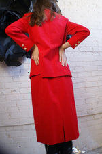 Red Ultra Suede Vintage Suit