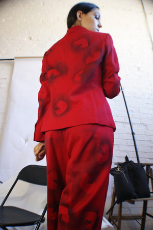 Unique Hand Painted Red Suit - ULTRA-CAT