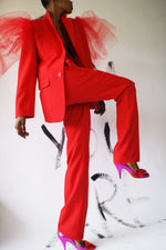 Avant Garde Red Suit With A Tie - ULTRA-CAT