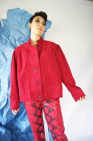 Ultra Suede Fabric Lilly Ann 1980's Jacket - ULTRA-CAT