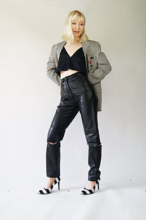 Restructured REAL leather Pants - ULTRA-CAT