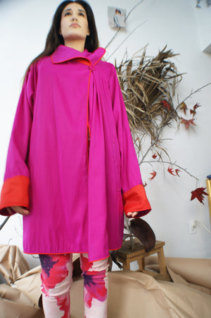 Reversible Magenta Orange Coat - ULTRA-CAT